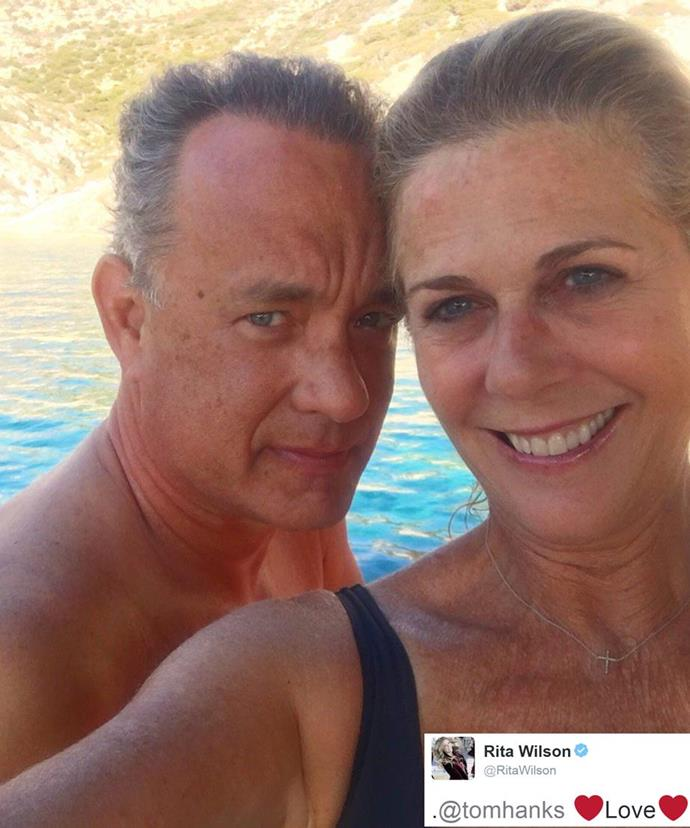 The couple on their 28th anniversary