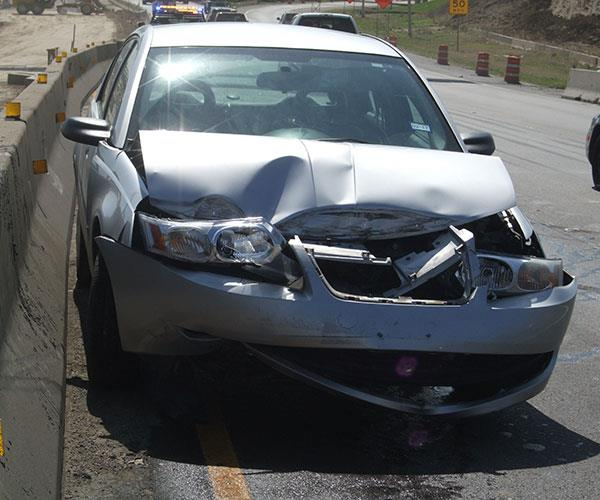 The damage from my car accident.