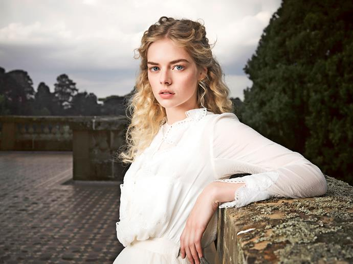 Samara Weaving as Irma Leopold in Picnic At Hanging Rock.
