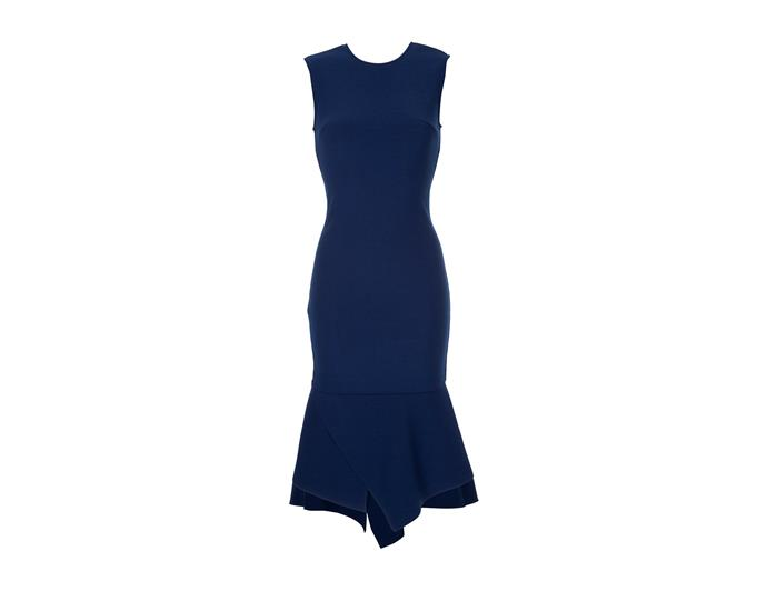 "***A well-fitted, bright dress can be worn a thousand ways*** <br><br> If you're thinking about purchasing a similar dress for yourself, look for a classic shape with a single element of interest. Where in Kate's Stella McCartney dress, the fanned pleats under the bust add some freshness, the asymmetrical peplum hem on this [Ginger & Smart](https://www.theiconic.com.au/script-dress-574101.html|target=""_blank""