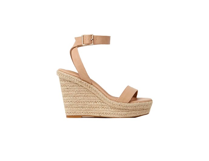 "***Your fancy heels can be super comfortable***<br><br> If you want to invest in a pair, we suggest following Kate's lead and going for a cork wedge, which go well with anything and give off a more relaxed vibe. Look for a stacked platform sole (under the instep of your foot) — this is what raises your foot up so the heel isn't uncomfortable, but still gives the illusion of height. <br><br> Kate loves to turn to Stuart Weitzman for her wedges — she owns three different pairs by the designer. If you don't want to splash out that much, this pair by [Spurr](https://www.theiconic.com.au/iconic-exclusive-zaina-wedges-387655.html|target=""_blank""