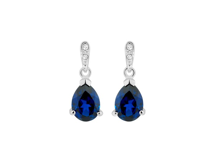 "***A stylish pair of statement earrings will go with everything***<br><br> Thinking of buying a pair? Look for a good-quality metal, like silver, or gold or platinum – materials like copper, brass or even silver-plate won't last as long. Gemstone colours like sapphire, emerald, ruby or topaz are good options because they will complement your outfits without drawing focus. When considering colour options, always think about your skin tone and hair colour and how the stone will look on – where possible, try on the earrings before buying.<br><br> These created sapphire and diamond earrings from [Michael Hill](http://www.michaelhill.com.au/drop-earrings-with-created-sapphire-diamonds-in-10ct-white-gold-11094449.html?cgid=jewellery-earrings-stoneSet|target=""_blank""