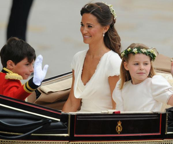 Pippa Middleton, sister to the Duchess of Cambridge, also rode in one of the carriages on the big day.