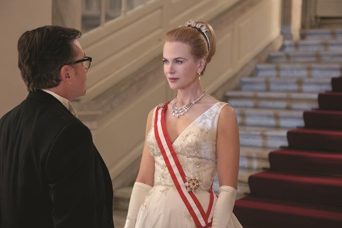Nicole Kidman plays the original actress-turned-Royal in *Grace Of Monaco*.
