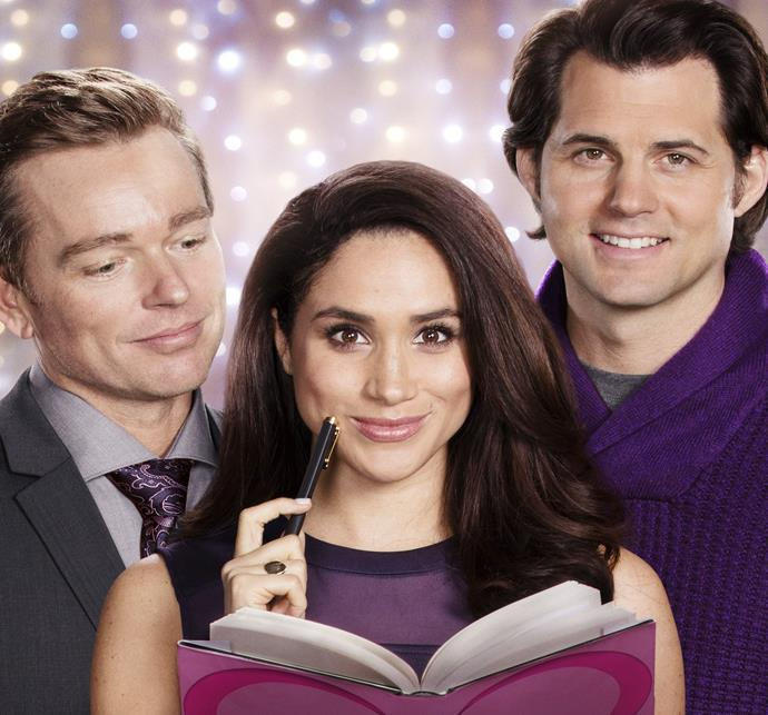 Meghan in the feel-good Hallmark film, *Dater's Handbook*.