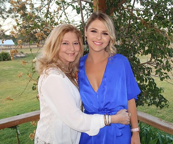 Tara with her mum.