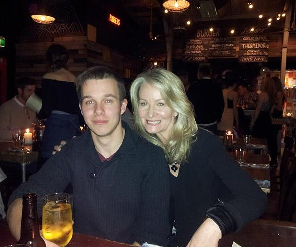 Margaret with Marcus recently