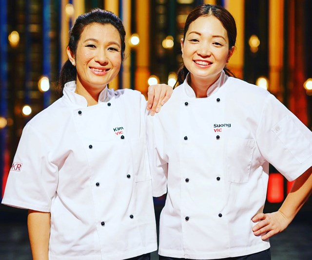 *My Kitchen Rules* runners up, Kim and Suong.
