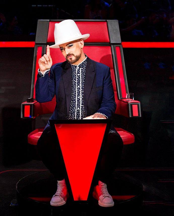Boy George has been a controversial coach on this season of *The Voice.*