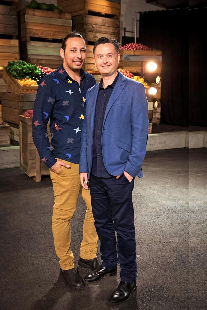 Will Aldo (left) take the *MasterChef* crown before saying I do to his fiancé Mark (right)?