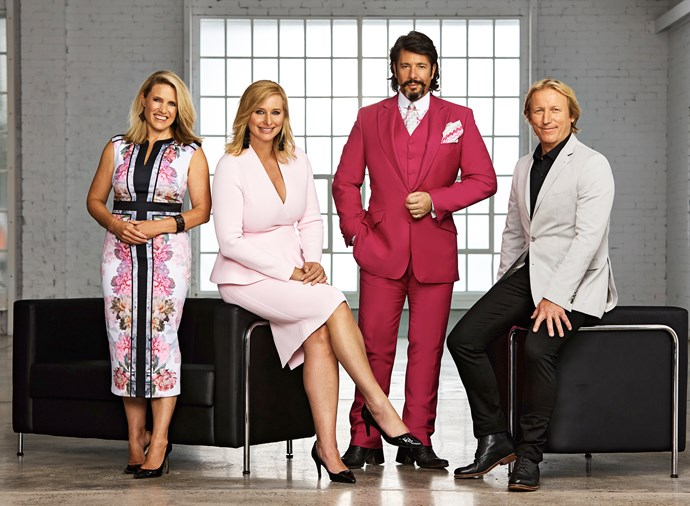 *House Rules* judge Wendy Moore with host Johanna Griggs and fellow judges Laurence Llewelyn Bown (left) and Drew Heath.