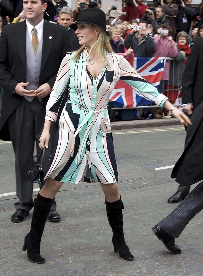 Bit casual for Prince Charles and Camilla's wedding, wouldn't you say, Zara?