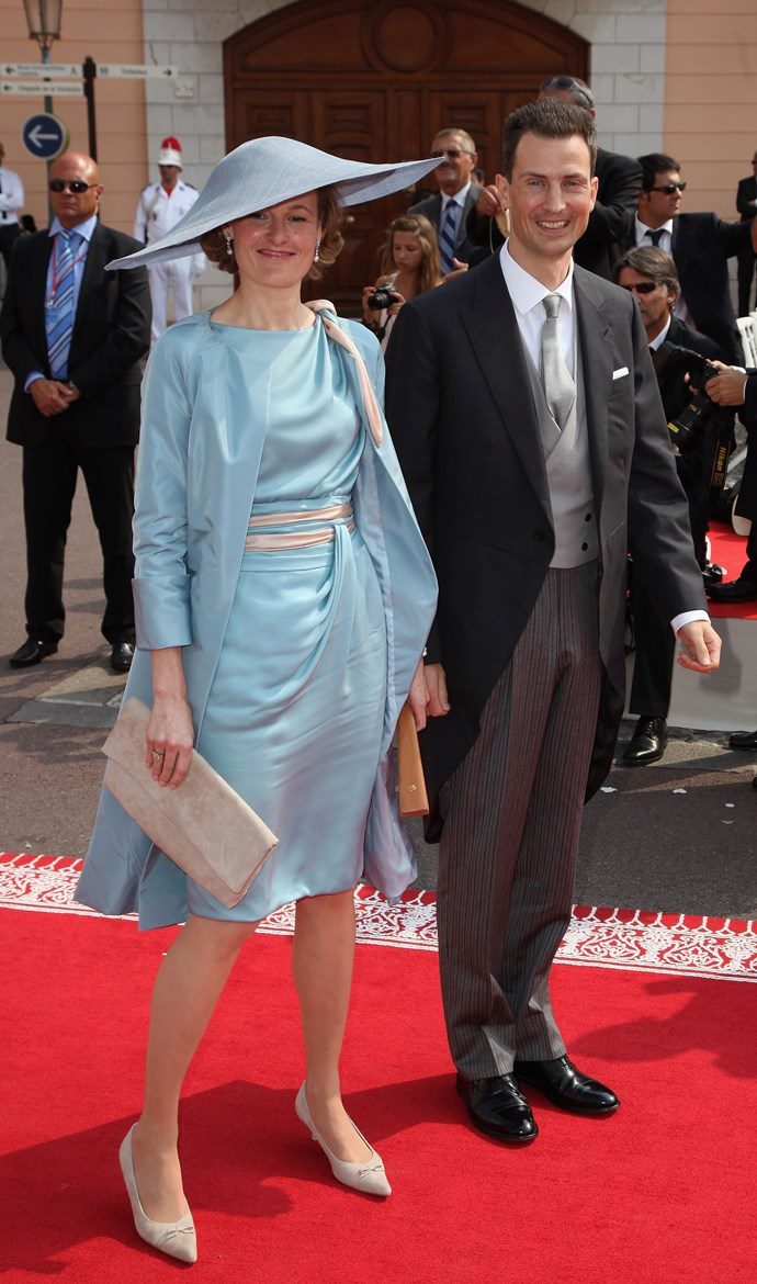 We love the rest of the outfit, but this hat on Princess Sophia of Liechtenstein is a bit UFO-y.
