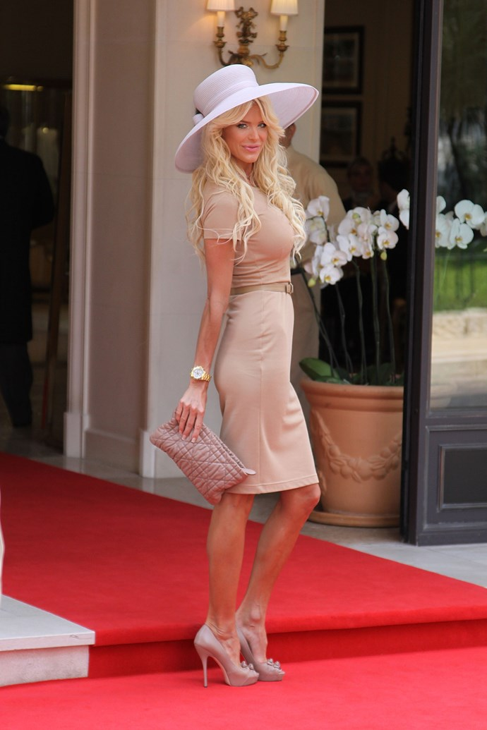What do you think of Swedish model Victoria Silvstedt's look at Prince Albert's wedding?