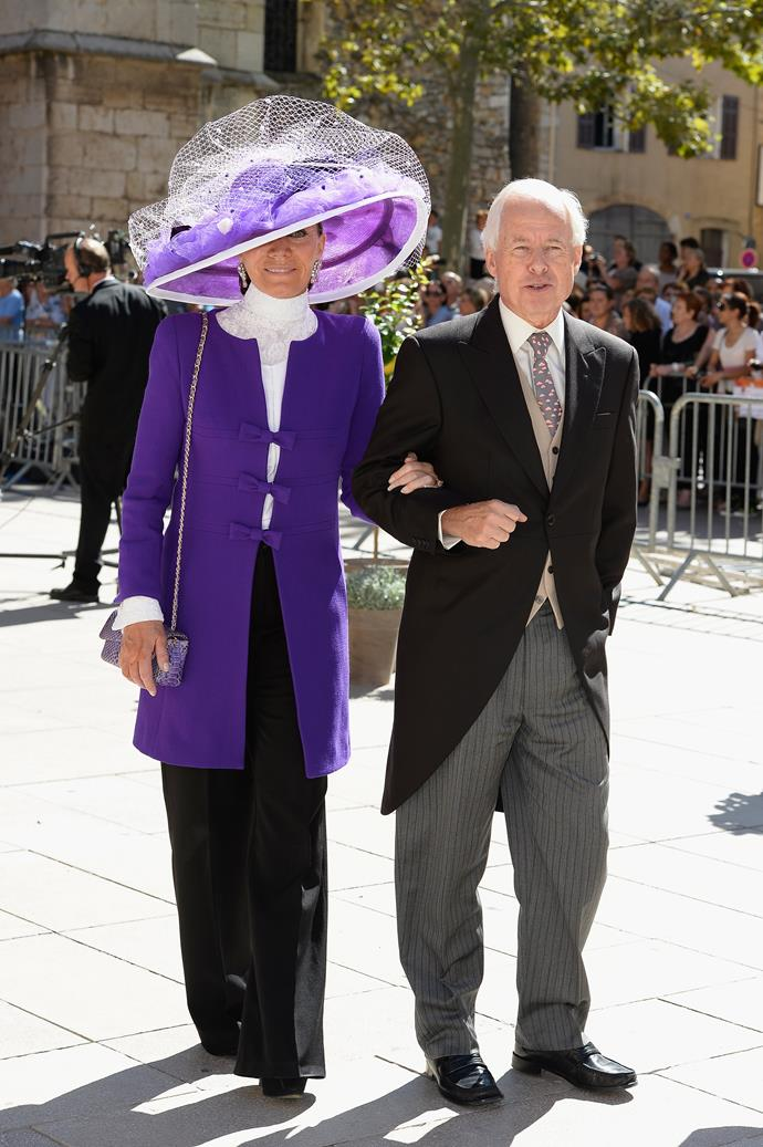 Check out the hat on this guest at Prince Felix Of Luxembourg and Claire Lademacher's wedding.