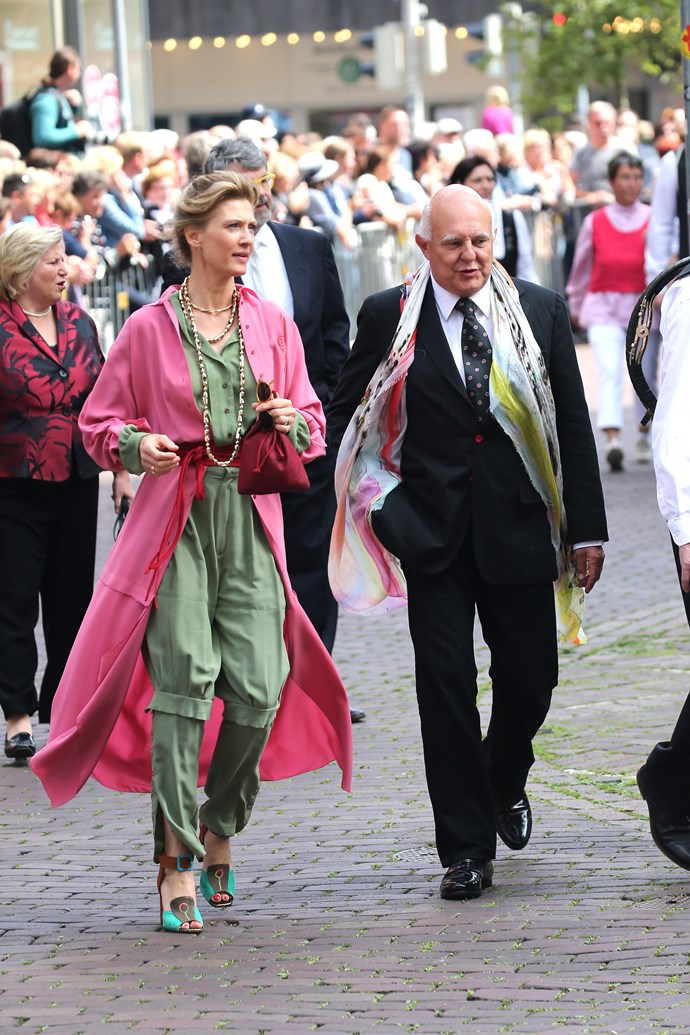 German princess and fashion designer Mafalda von Hessen's pink coat was lovely for Prince Ernst August of Hanover's wedding in 2017, but we're not sure about her khaki jumpsuit for a royal wedding!