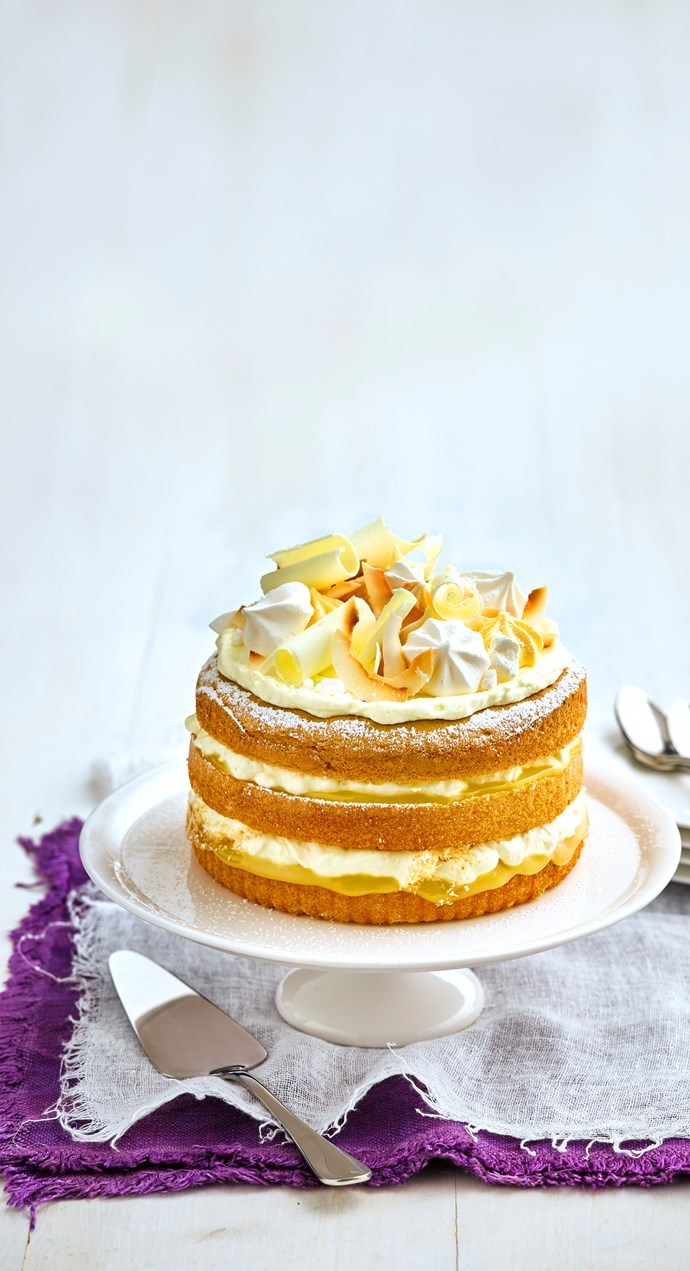 Cheat's lemon and elderflower buttercream cake