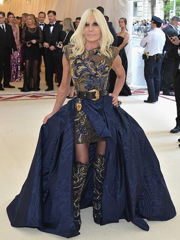 Donatella Versace proves she's still fashion royalty.