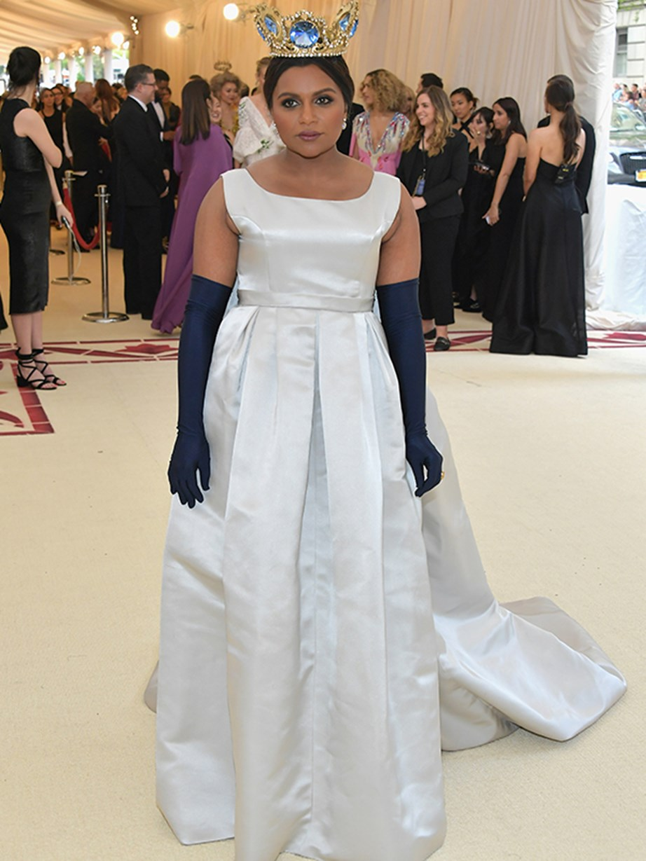 Now *that's* a crown! Mindy Kaling looks like a princess in this royally impressive design.