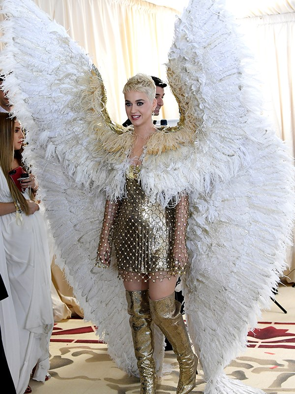 Katy Perry never does a red carpet in halves.