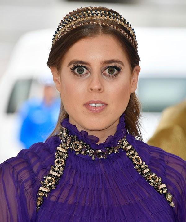Those eyes! Princess Beatrice's stunning eyes popped.