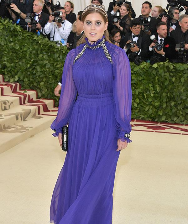 The royal rocked a deep purple gown for the Met Gala.