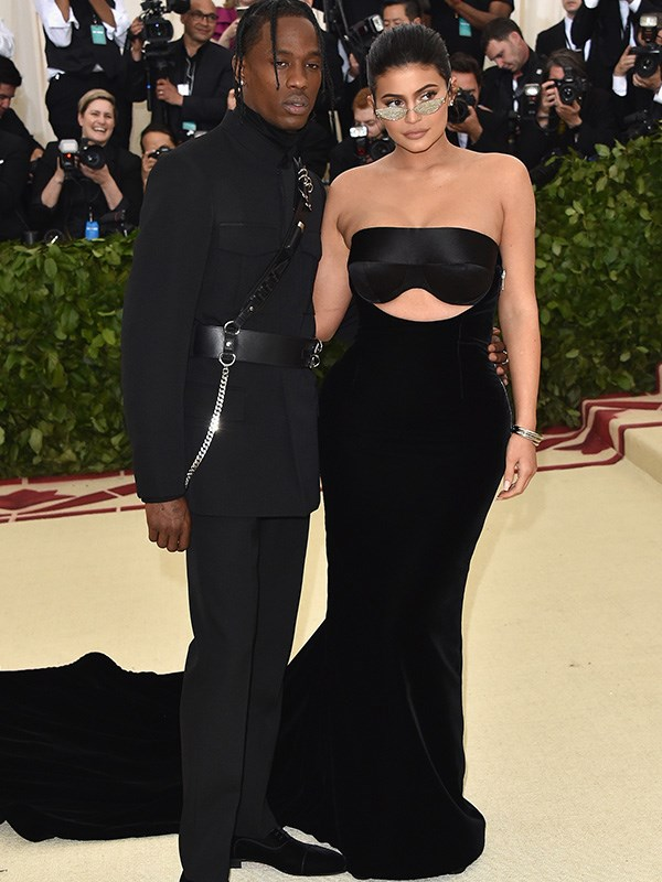 New parents Kylie Jenner and Travis Scott slip out for a date night to the Met Gala.