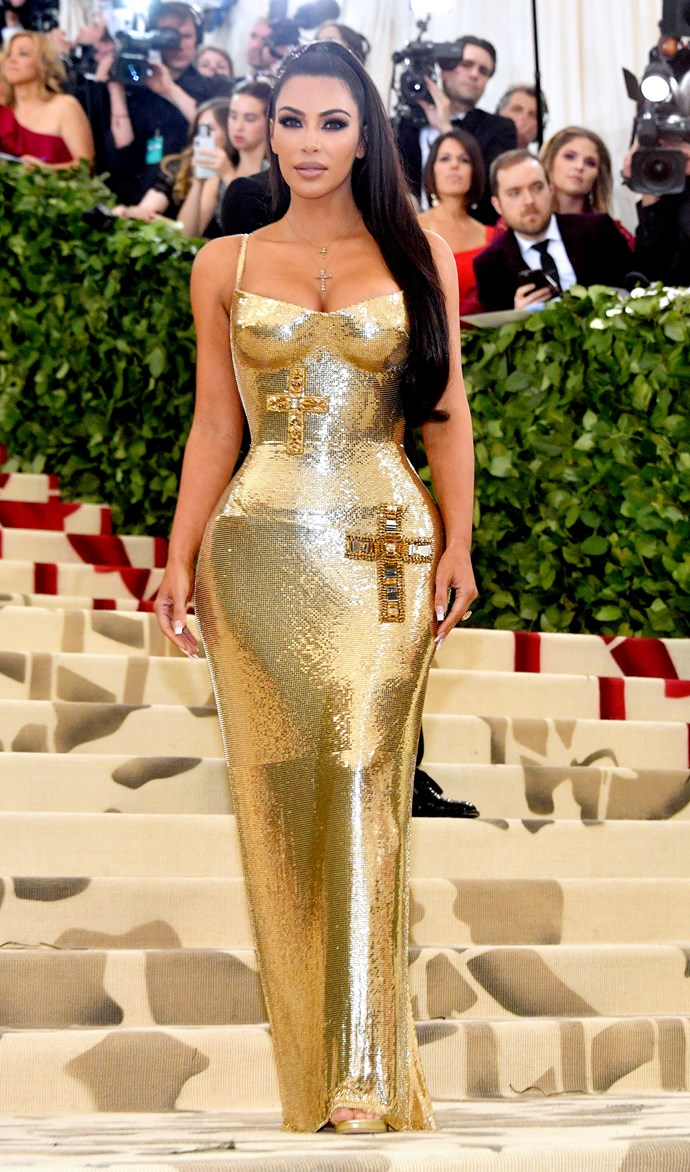 Kim's 90s Catholicism-themed look came at a price...