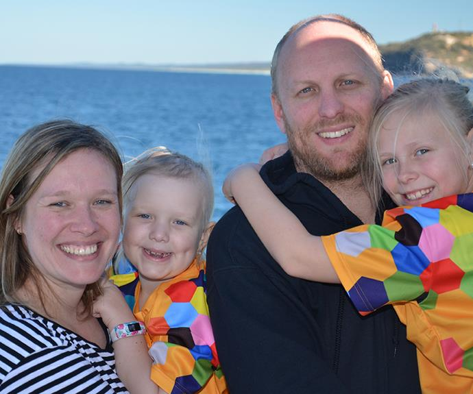The Weir family at Tangalooma Resort.