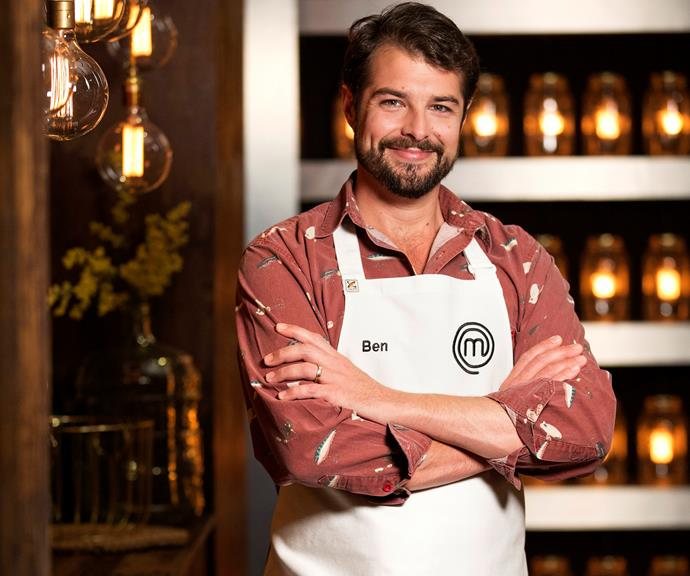 """**Ben Borsht, 31, QLD, Builder:**  Ben's best friend and wife signed him up for *MasterChef* after he was diagnosed with ulcerative colitis. Named the """"King Of Seafood"""" by his friends, Ben has a love for working with fresh food like crab and fish."""