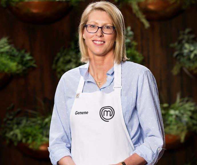 **Genene Dwyer, 49, VIC, Recruitment Co-ordinator:**  Joining *MasterChef* is a big change for the recruitment co-ordinator. After 20 years in her industry, Genene says the competition is the chance she needs to prove to herself that anything is possible before she reaches the big 5-0.