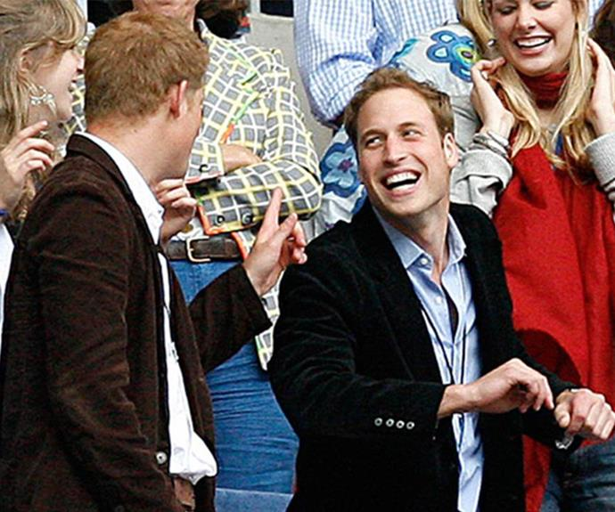 The princes at the Concert for Diana in London in 2007.
