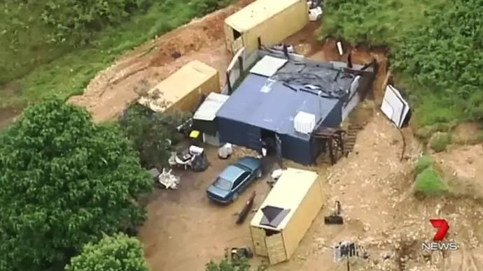 The shipping containers **image credit: Seven news**