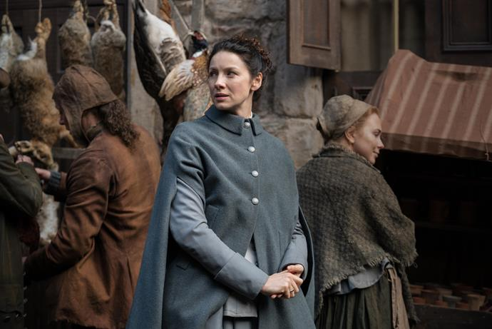 Caitriona stars as Claire in Season three of *Outlander.*