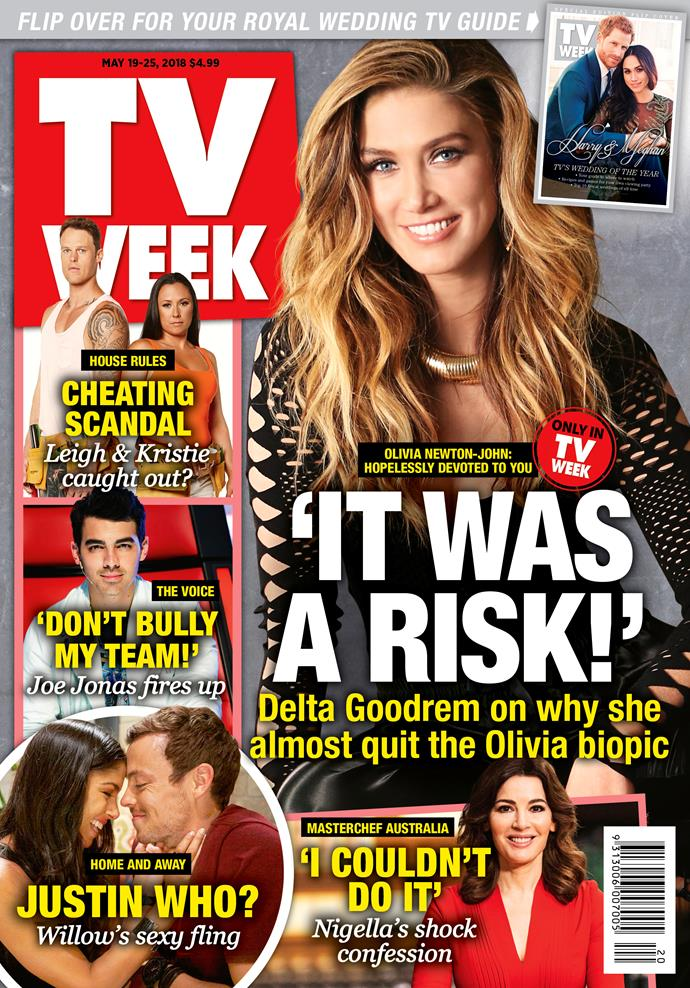 This week's issue of TV WEEK stars Delta Goodrem, with a special flip cover starring Meghan Markle and Prince Harry.
