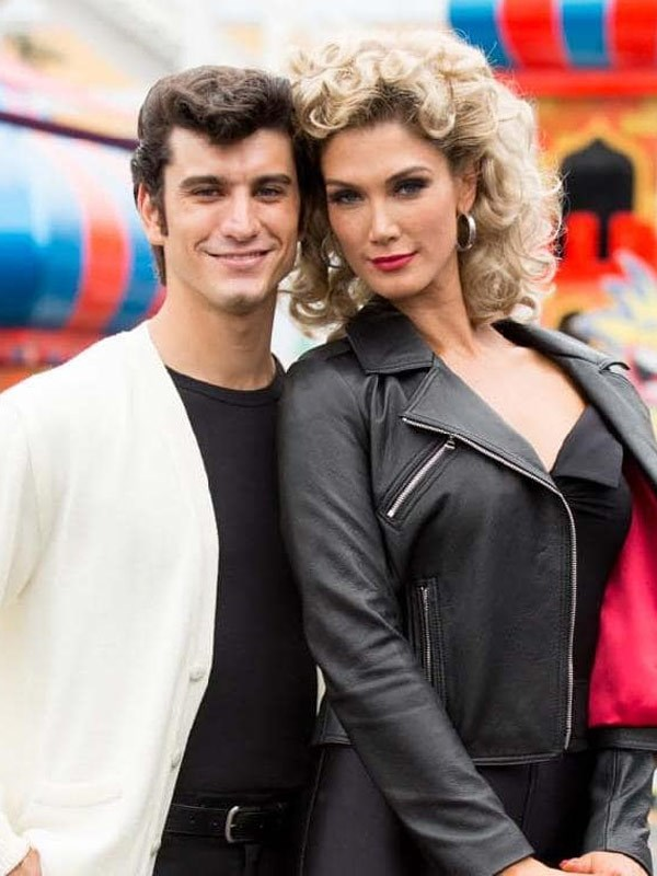 Stepping up: Delta Goodrem as Olivia Newton-John and George Xanthis as John Travolta.