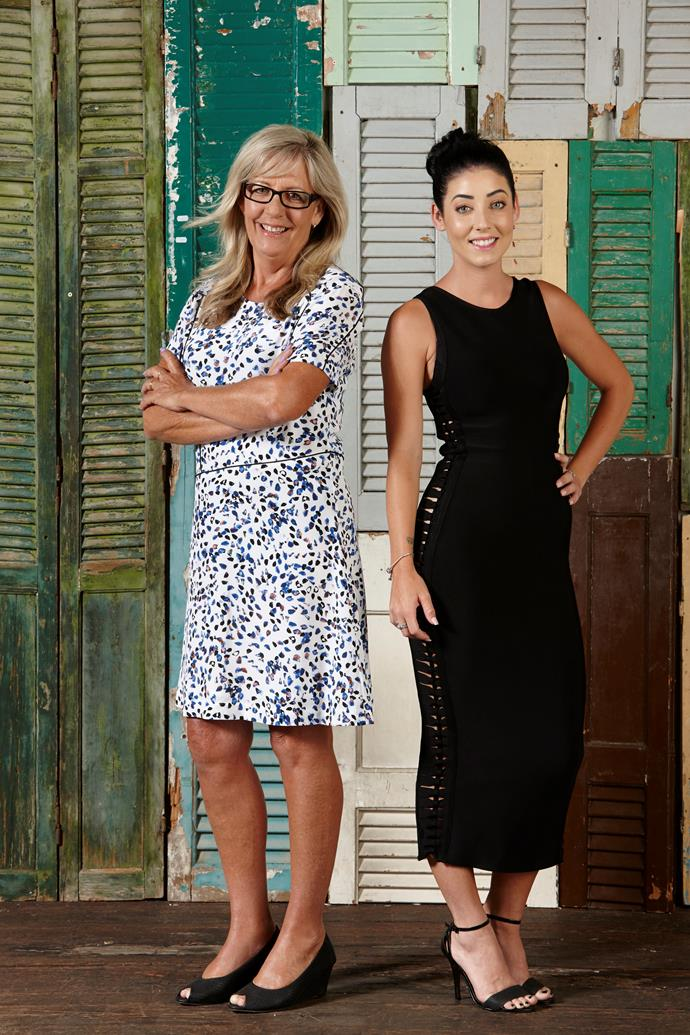 Michelle (right) chooses to live with her mum, Kim, rather than her partner.
