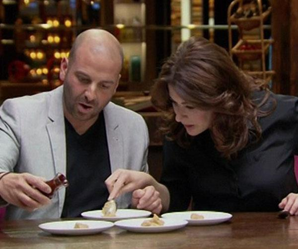Nigella (right) with *MasterChef Australia* judge George.