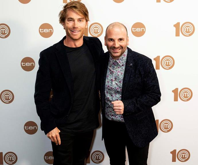 Former *MasterChef Australia* contestant Hayden Quinn reunites with judge George.