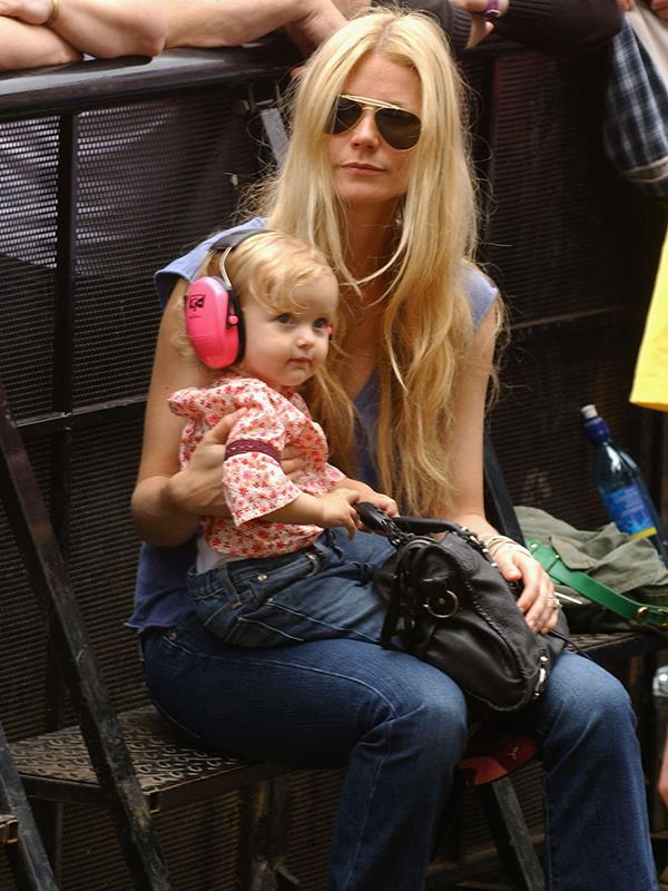 She's all grown up! Gwyneth and baby Apple at a London concert in 2005.