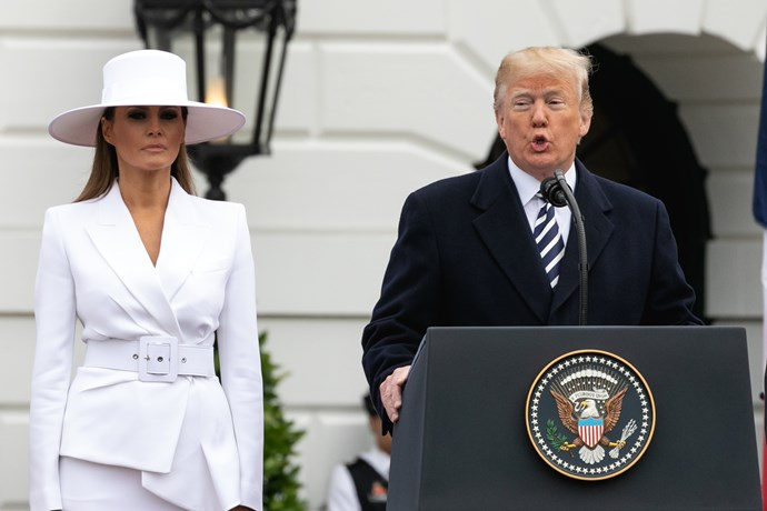 Melania will spend the rest of the week in hospital.