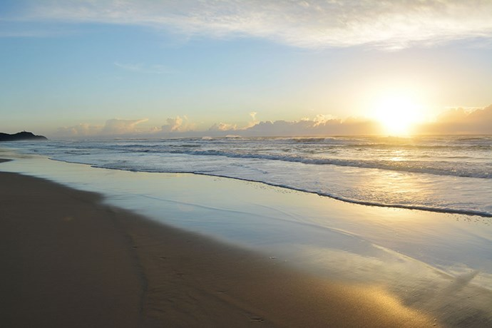 Start every morning with a sunrise beach walk!