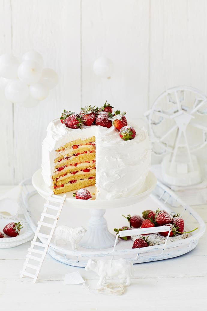 STRAWBERRY & PASSIONFRUIT MILE-HIGH LAYER CAKE