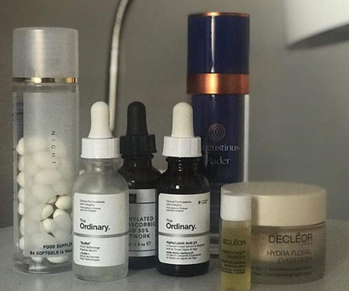Some of Nichola's favourite skincare products include serums from affordable pharmacy brand The Ordinary.