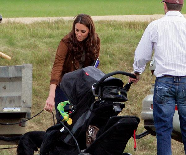 Family day out! Kate and the kids enjoyed a stroll around Kensington Gardens.