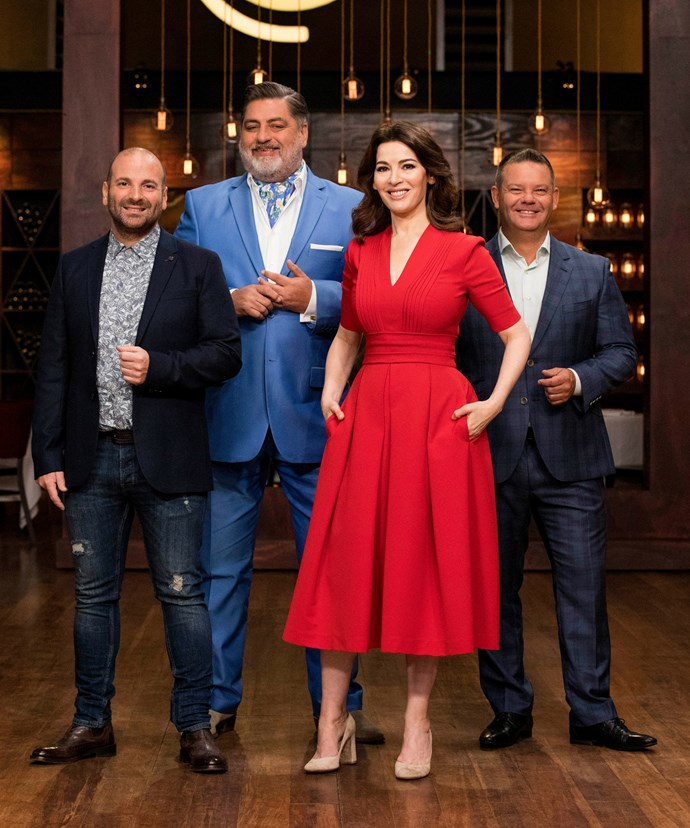 Nigella says the Masterchef judges can be a handful when they're all together!