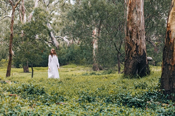 Lily as Miranda in the remake of *Picnic At Hanging Rock.*