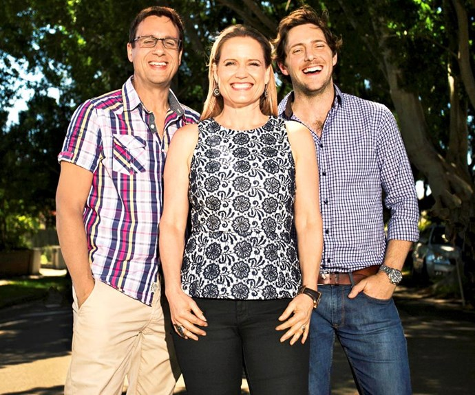 Shaynna with *Selling Houses Australia*'s Andrew Winter and Charlie Albone.