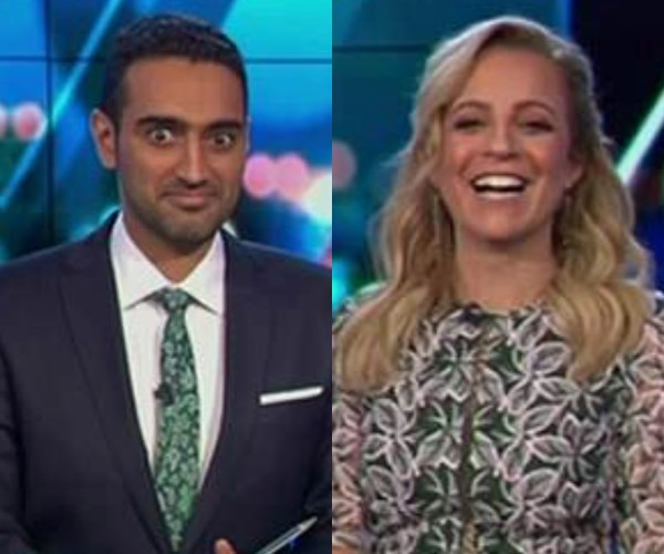 Carrie's surprising comments left her co-host Waleed blushing!