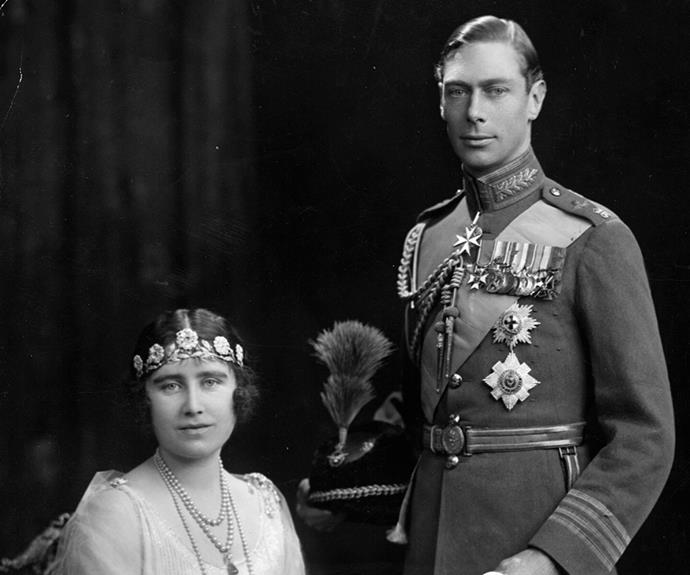The Queen's parents on their wedding day.